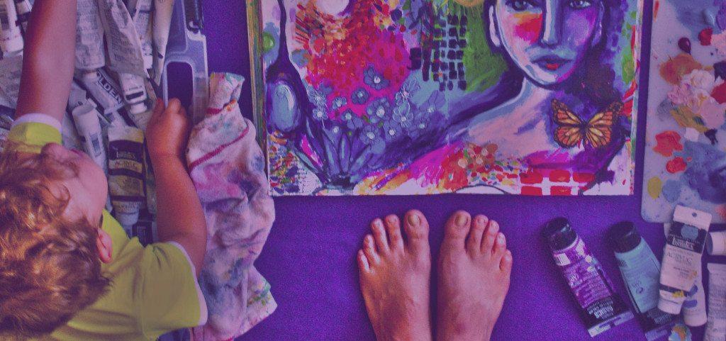 dirty paint footprints studio