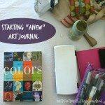 "Starting ""Anew"" Art Journal"